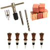 Bottle Stopper Starter Set: with 5 Chrome Kits, 5 Blanks and Chuck System
