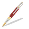 Broadwell Art Deco Gold T/N & Chrome Ball Point Pen Kit