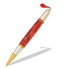 Diva Charm Ruby Red Crystals Pen Kit in Gold TN and Rhodium
