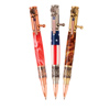 3 Bald Eagle Insignia Flag Bolt Action Pen Kit Starter Set