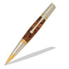 Majestic Squire 22kt 2-micron Gold and Rhodium Ballpoint Twist Pen Kit