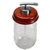 Mason Jar Soap Pump Satin Chrome Kit