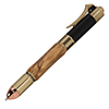 Revolver Antique Brass Click Pen Kit