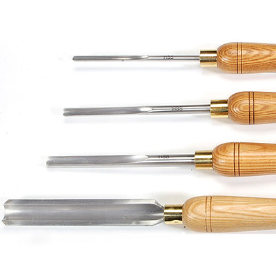 Set of 4 Benjamins Best HSS Spindle Gouges