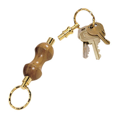 Detachable Key Ring 24kt Gold Keychain Kit