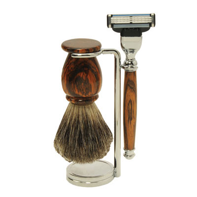 Standard Shaving Starter Set with Cocobolo Blanks