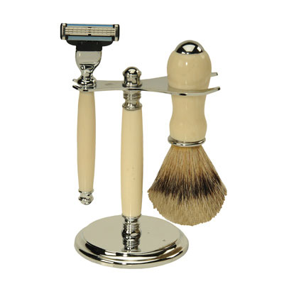 Deluxe Shaving Starter Set with Alternative Ivory Blanks