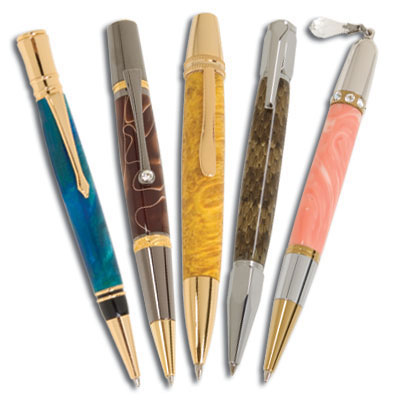 Single Tube Pen Bundle: 5 Pen Kits, FREE drill bit and FREE Bushings