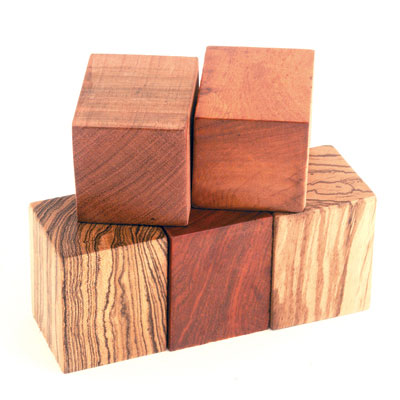 "Popular Collection 5 Pack Assorted 2"" x 2"" x 2-3/8"" Wide Blanks"