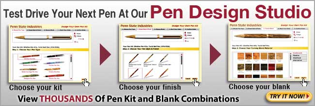 Test Drive your next pen at the Pen Design Studio