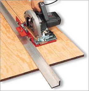 how to make perfectly straight cuts with a circular saw