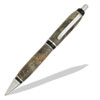 Cigar Chrome and Black Enamel Click Pen Kit