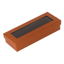 View Top Rust Embossed Pen Box - 6 Pack
