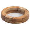 Stabilized Clear Spalted Maple Burl  Bangle Bracelet 2-1/4in. ID, 3-3/8in. OD, 3/4in. Thick Blank