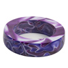Bangle Bracelet Purple Passion  2-1/4in. ID, 3-3/8in. OD, 3/4in. Thick Acrylic Blank