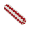 Wavy Red and White Stripes 3/4 in.x 5 in. Pen Blank