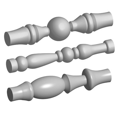 Candle Holder Spindle Duplicating Templates: Set of 3