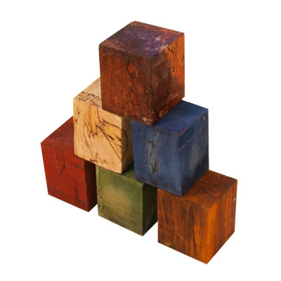 6pc Combo Stabilized Spalted Maple Burl Bottle Stoppers