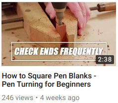 How to Square Pen Blanks