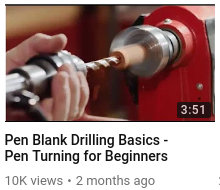 Pen Blank Drilling Basics