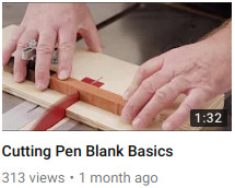 Cutting Pen Blank Basics