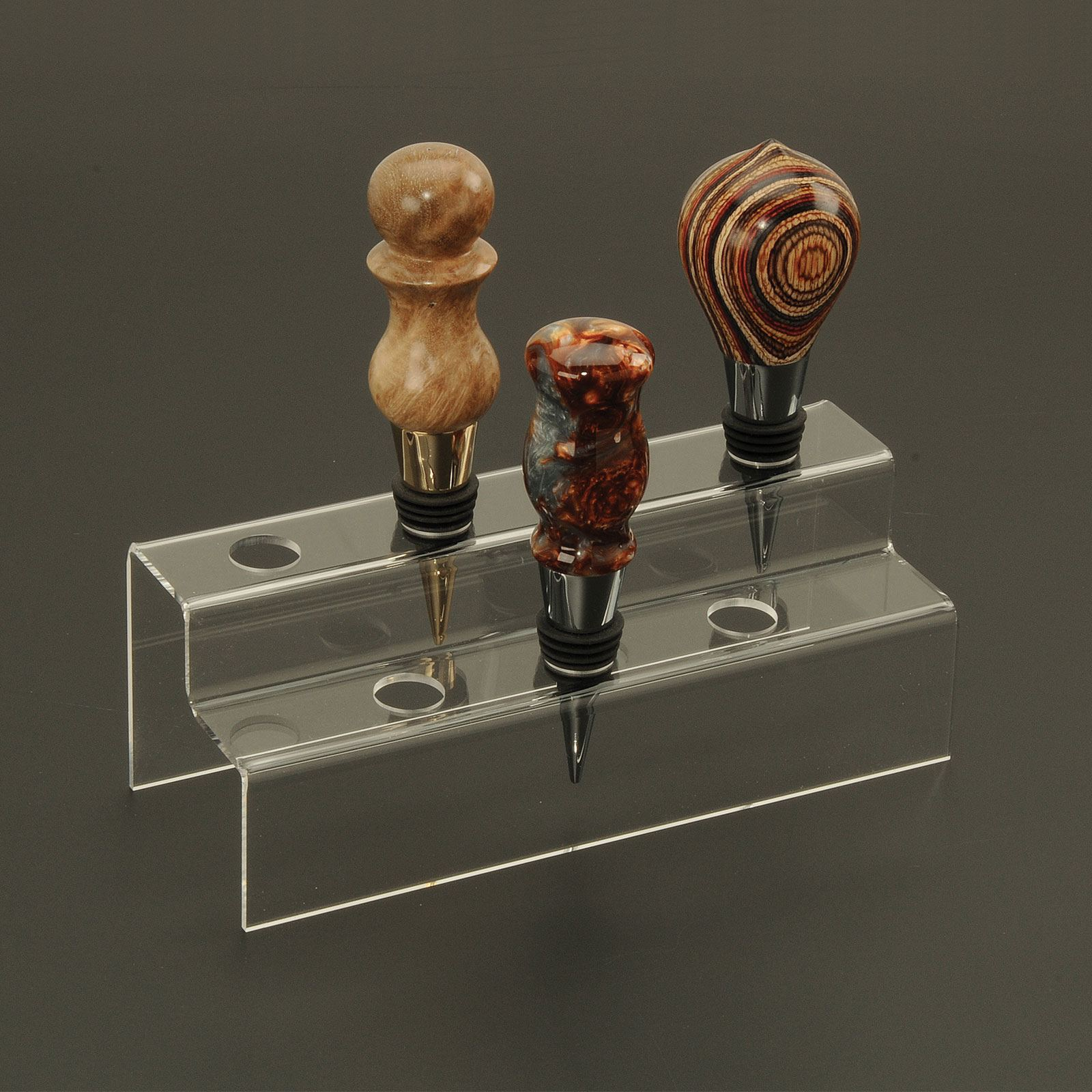 Acrylic Bottle Stopper Display At Penn State Industries