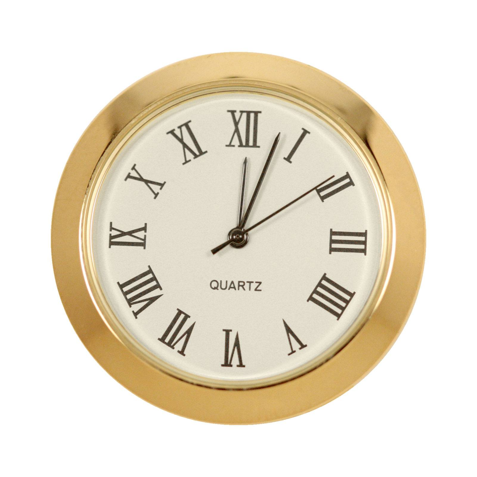 1 7 16 In Mini Clock Ivory Face Roman Numerals