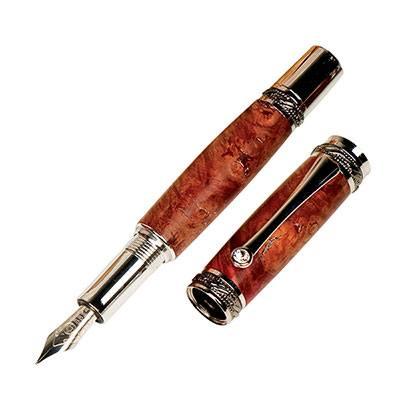 Majestic Black Tn Rhodium Fountain Pen Kit